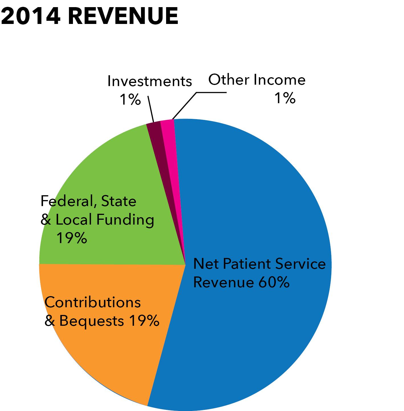 2014 revenue pie chart