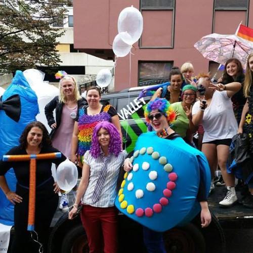 Peer Educators, Staff and Volunteers at the Vermont Pride Parade