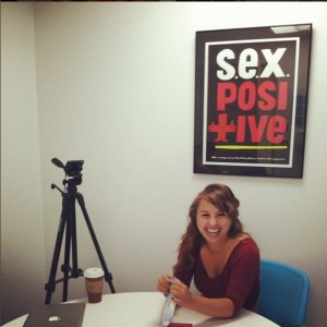 Laci Green Filming for A Naked Notion